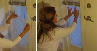 Il metodo facilissimo per isolare le finestre a costo zero con il pluriball