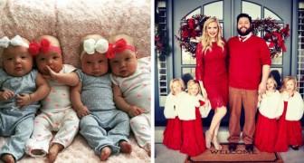 Cercano di avere dei figli per 8 anni e alla fine avviene il miracolo: partorisce due coppie di gemelline