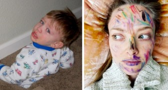 15 fotos que demuestran que estar en casa con los hijos puede ser realmente agotador para un padre