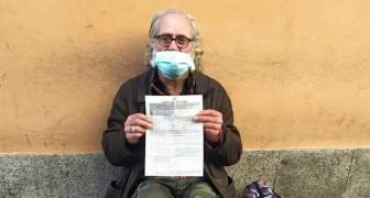 Un senzatetto di 63 anni ha ricevuto una multa di 400 euro per non aver rispettato il coprifuoco notturno