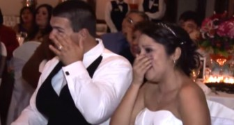 This Dad's surprise at his daughter's wedding makes everyone very emotional !