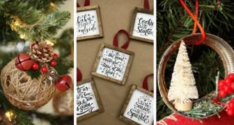 16 décorations fantastiques pour votre sapin de Noël de style rustique à réaliser avec le DIY
