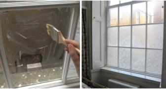 La méthode facile pour masquer les fenêtres et créer de l'intimité en utilisant la dentelle et l'amidon de maïs