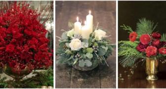10 idee incantevoli per creare decorazioni floreali con cui abbellire la casa durante le feste natalizie