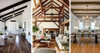 11 idee affascinanti per arricchire le stanze con splendidi soffitti fatti di travi in legno
