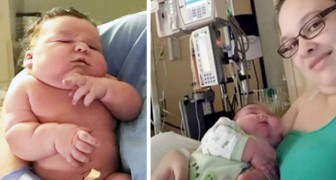 A woman gives birth to a record-breaking baby: at her birth, she weighed over 17 pounds