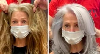 15 Frauen, die es vorzogen, die ganze Schönheit grauer Haare zur Schau zu stellen, anstatt eine neue Farbe zu bekommen