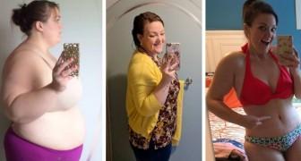 Termina um relacionamento doentio e perde quase 100 kg: as fotos de sua transformação são demais