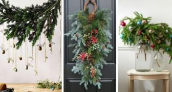 11 strepitose composizioni con i rami d'abete per decorare la casa durante le feste di Natale