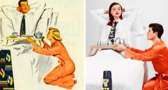 Um fotógrafo inverte os papéis de homens e mulheres em alguns anúncios machistas dos anos 50