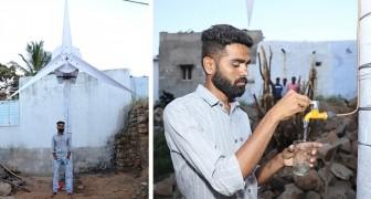 Un ragazzo inventa una turbina eolica che produce elettricità e acqua potabile per le persone in difficoltà