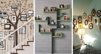 11 idées originales pour décorer les murs de la maison avec des arbres généalogiques et des photos de famille