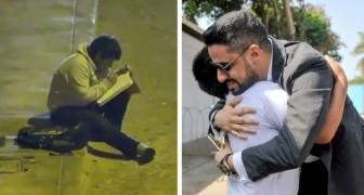 Um milionário decide ajudar um menino que é forçado a estudar sob um poste porque não tem eletricidade em casa