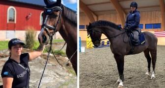 Uma garota perde ambas as pernas após um acidente de carro, mas se torna uma campeã de equitação