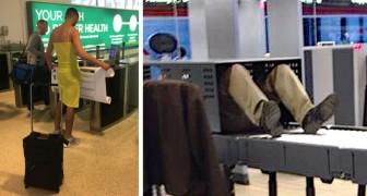 18 der seltsamsten und urkomischsten Szenen, die Menschen auf dem Flughafen verewigt haben