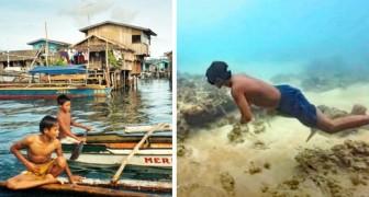 Medlemmarna i den här stammen har utvecklats för att leva i havet: de kan hålla andan i upp till 13 minuter
