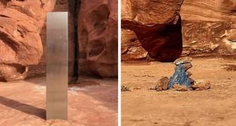 Usa, il monolite metallico trovato nel deserto è misteriosamente scomparso: ora c'è una piramide