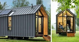 Une entreprise présente sa maison-cabane sur roues : elle est petite mais il ne manque rien à l'intérieur