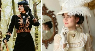 Esta mulher se veste todos os dias como se vivesse no século 19 - as fotos de seus vestidos são lindas