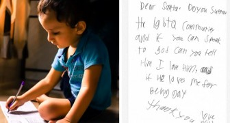 La lettera a Babbo Natale di un bambino commuove il web: Puoi chiedere a Dio se mi ama anche se sono gay?