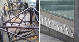 Feindselige Architektur: 20 Beispiele dafür, wie Städte das Problem des Biwakierens von Obdachlosen gelöst haben
