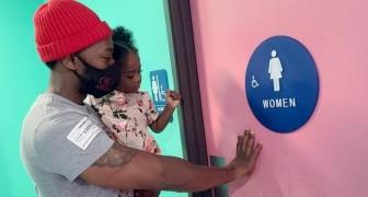 Le accompagno io le mie bimbe al bagno delle donne: un papà single spiega la ragione di questa sua scelta