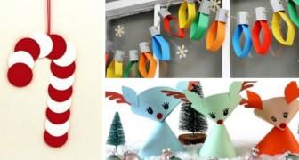 10 travaux de Noël très amusants à réaliser avec du papier, parfaits pour les enfants