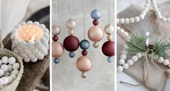10 idées charmantes pour créer de splendides décorations de Noël avec les perles en bois