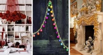 11 propositions charmantes pour utiliser les boules de l'arbre de Noël et décorer de façon unique