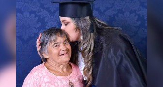 Celebrating graduation with her mother who has Down Syndrome: a slap in the face of prejudice and slander