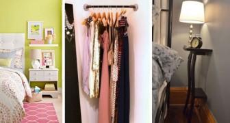 10 soluzioni ingegnose per ricavare spazio anche nelle camere da letto più anguste