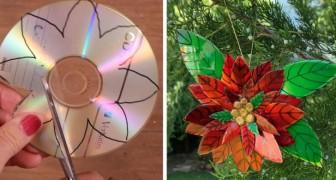 Le tutoriel pas à pas pour transformer de vieux CD en fantastiques Etoiles de Noël