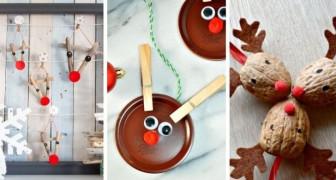 10 adorables travaux de Noël pour confectionner des rennes sympas en recyclant de façon créative