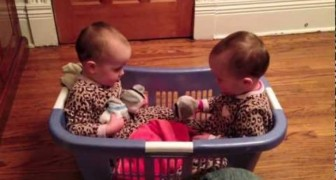 A very SERIOUS conversation between these twins babies!