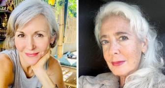 15 mulheres que decidiram abandonar a tinta exibindo o charme de seus cabelos brancos