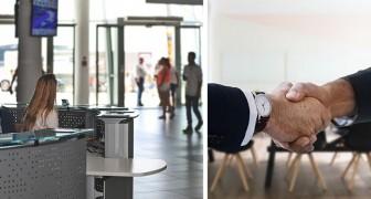 Een man faalt voor het sollicitatiegesprek zonder er zelfs maar aan te beginnen: verraden door de receptioniste