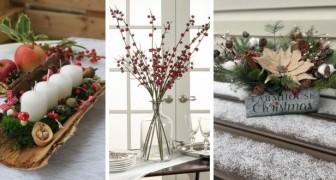 10 astuces pour réaliser de fantastiques centres de table de Noël avec lesquels préparer la table des fêtes