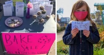 Ein 4-jähriges Mädchen sammelt mehr als 600 $ mit dem Verkauf von Gebäck und spendet dann alles für wohltätige Zwecke