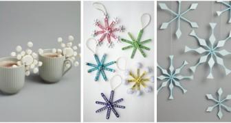 10 astuces super créatives pour décorer la maison avec les cristaux de neige DIY pendant les fêtes