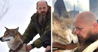 Dieser Mann rettete einen Wolf vor einem traurigen Schicksal: Jetzt ist er sein prächtiger Begleiter