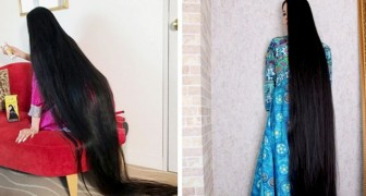 Una mujer decidió a los 20 años no cortarse más el pelo: ahora la definen como la Rapunzel de Japón