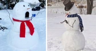 17 pupazzi di neve originali e creativi che hanno dato un tocco di magia al loro quartiere