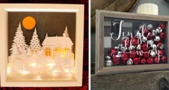 9 incantevoli quadretti di Natale fai-da-te per decorare in modo originale durante le feste