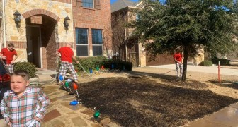 Un enfant de douze ans reçoit une loupe pour Noël et met le feu à la pelouse de sa maison