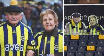 Um time de futebol homenageia o casal de torcedores idosos que nunca faltou a um encontro no estádio