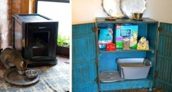 8 soluzioni super-ingegnose per nascondere la lettiera dei gatti nell'arredamento di casa