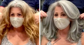 This skilled hairdresser brings out all the natural beauty of these women's gray hair