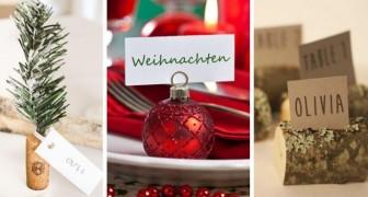 10 strepitosi segnaposto fai-da-te per dare un tocco creativo alla tavola durante le festività