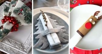 13 fantastici portatovaglioli fai-da-te per rendere meravigliosa la vostra tavola natalizia