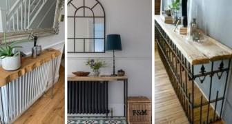 9 solutions brillantes pour couvrir ou décorer l'espace autour des radiateurs